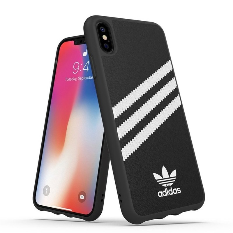 Adidas Moulded Case iPhone Xs Max zwart/wit 03