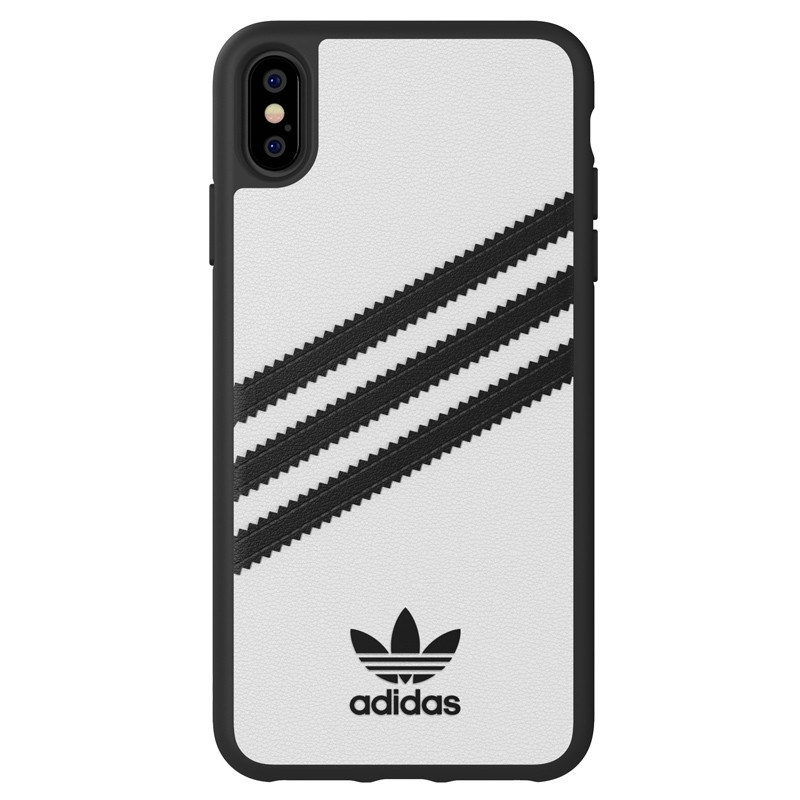 Adidas Moulded Case iPhone Xs Max wit/zwart 01