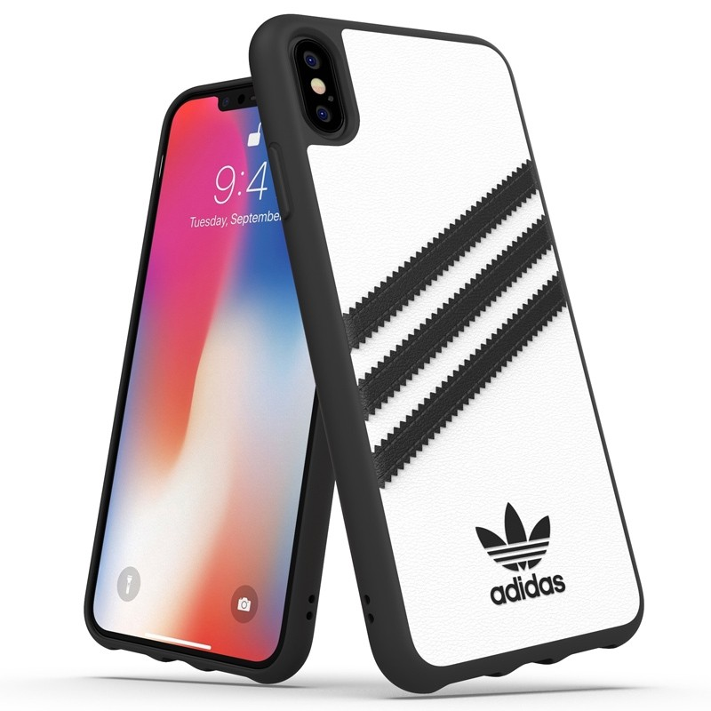 Adidas Moulded Case iPhone Xs Max wit/zwart 03