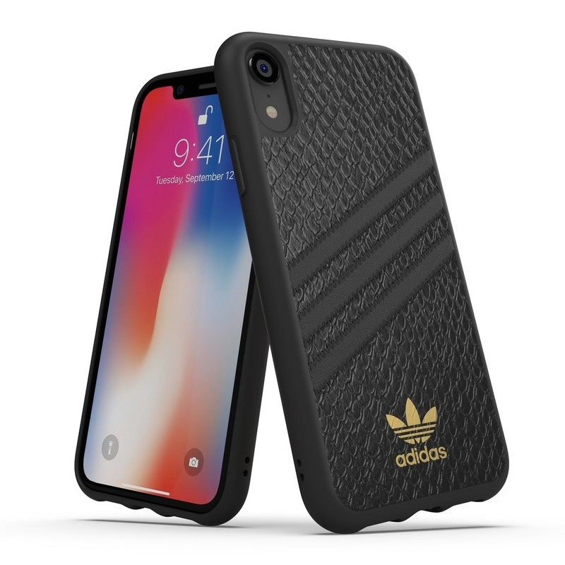 Adidas Moulded Case iPhone Xr zwart goud 03