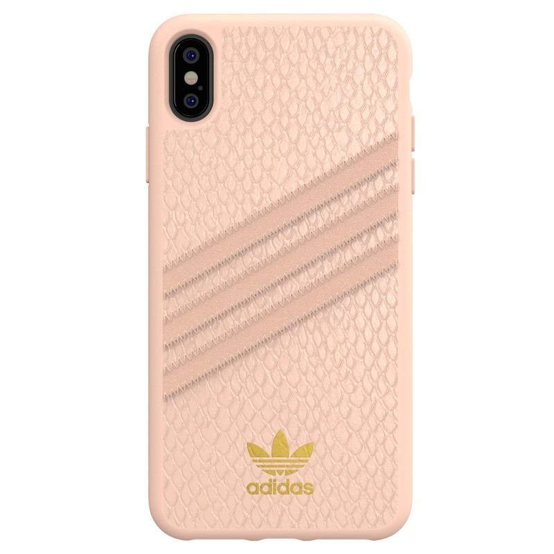 Adidas Moulded Case Snake iPhone XS Max hoesje roze 01
