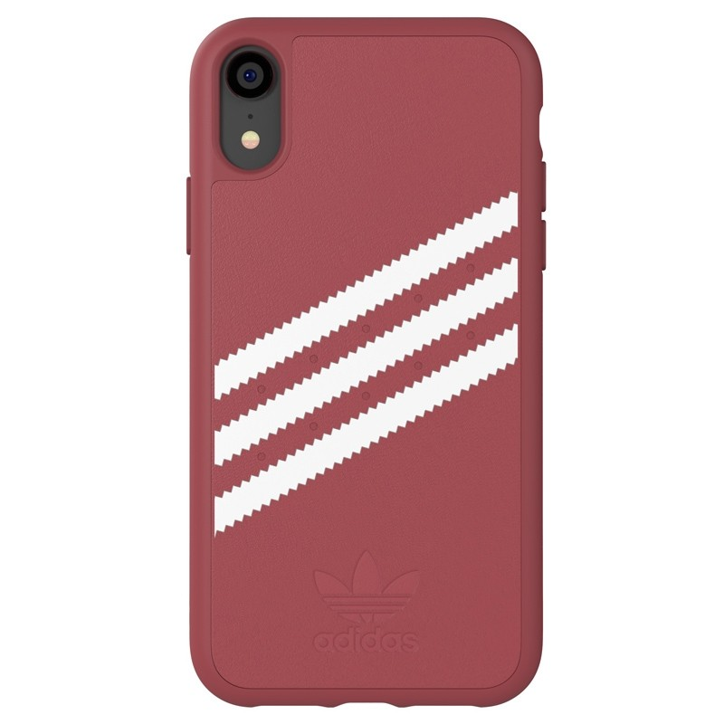 Adidas Moulded Case Suede iPhone Xr donker roze 01