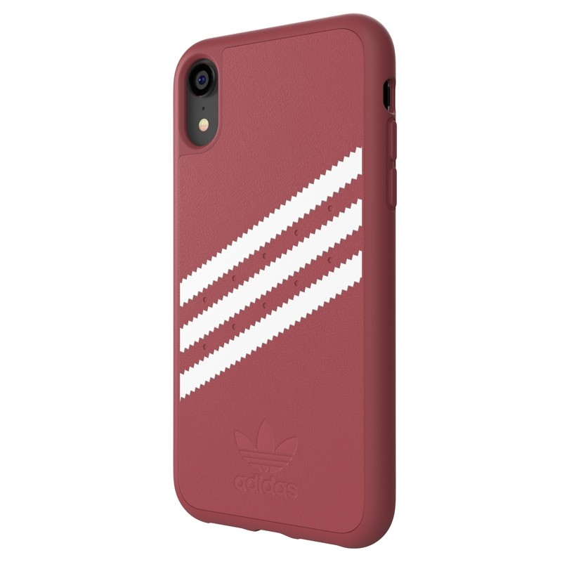 Adidas Moulded Case Suede iPhone Xr donker roze 04