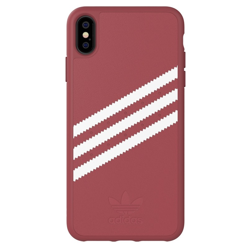 Adidas Moulded Case PU Suede iPhone XS Max hoesje rood 01