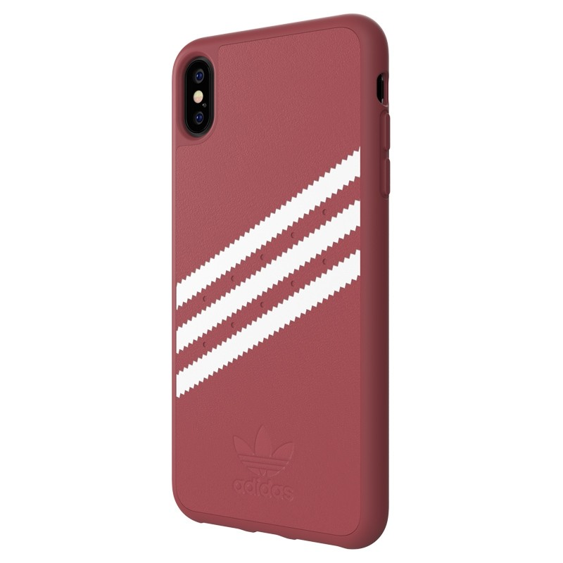 Adidas Moulded Case PU Suede iPhone XS Max hoesje rood 04