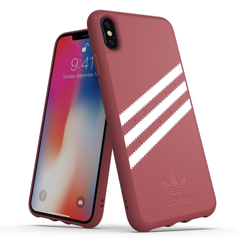 Adidas Moulded Case PU Suede iPhone XS Max hoesje rood 03