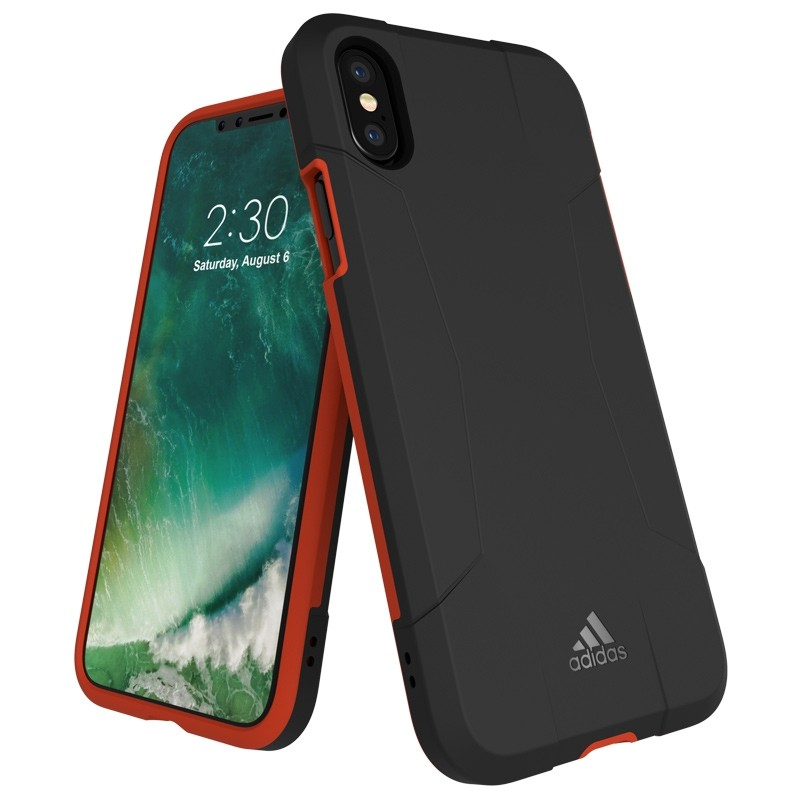 Adidas SP Solo Case iPhone X/Xs Black-Red 01