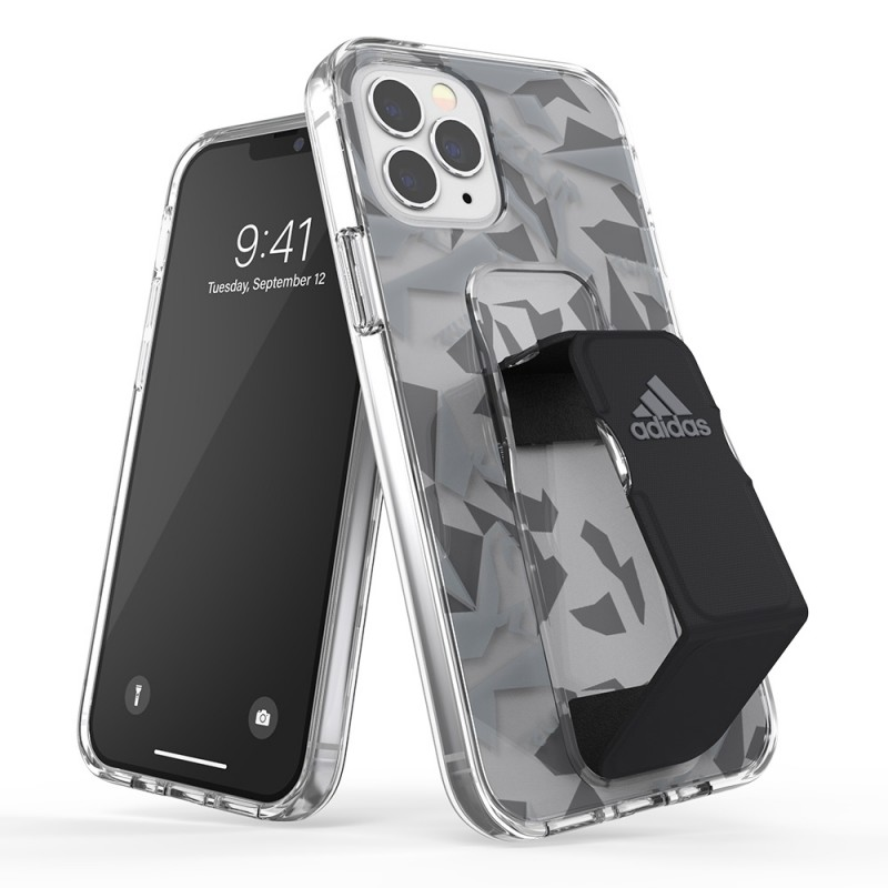 Adidas Clear Grip Case iPhone 12 / 12 Pro 6.1 Grijs/transparant - 1