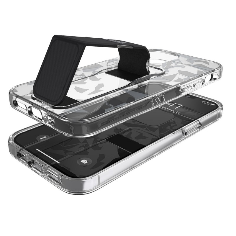 Adidas Clear Grip Case iPhone 12 / 12 Pro 6.1 Grijs/transparant - 4