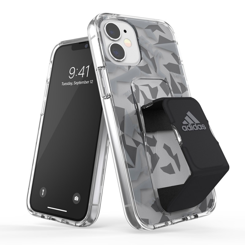 Adidas Grip Case Clear iPhone 12 Mini 5.4 Grijs/transparant - 1