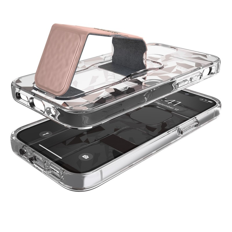 Adidas Grip Case Clear iPhone 12 Mini 5.4 Roze/transparant - 5