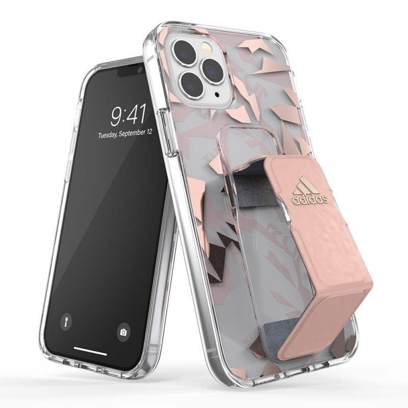 Adidas Clear Grip Case Camo iPhone 12 Pro Max Roze/transparant - 1