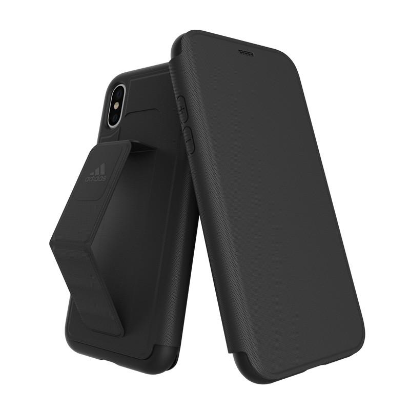 Adidas SP - Grip Case Folio iPhone X/Xs Zwart - 1