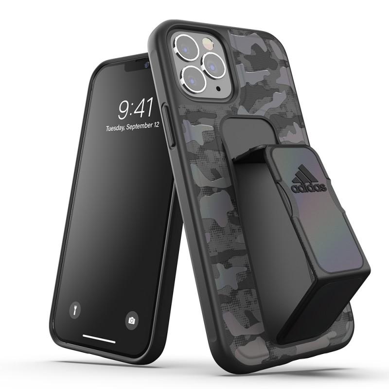 Adidas Grip Case Camo iPhone 12 / 12 Pro 6.1 Zwart Iridescent - 5