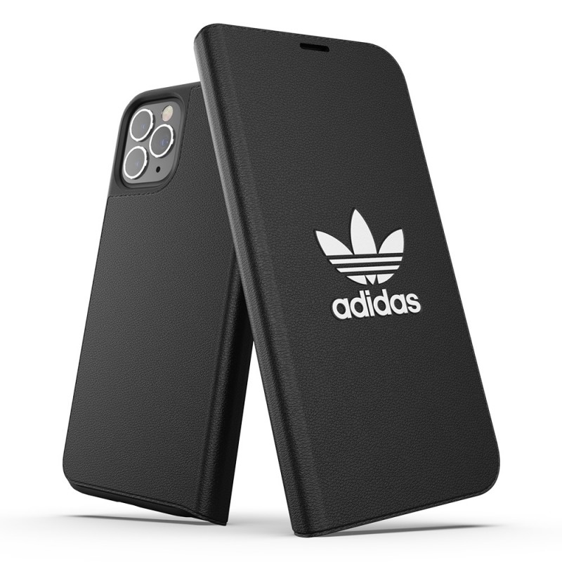 Adidas Trefoil Booklet Case iPhone 12 / 12 Pro 6.1 Zwart - 1
