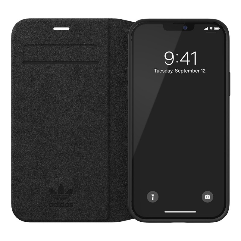 Adidas Trefoil Booklet Case iPhone 12 / 12 Pro 6.1 Zwart - 4