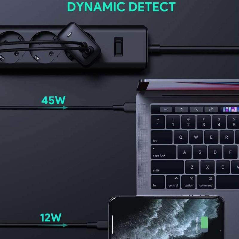 Aukey Oplader 65W USB-C + USB-A met Power Delivery Zwart 06