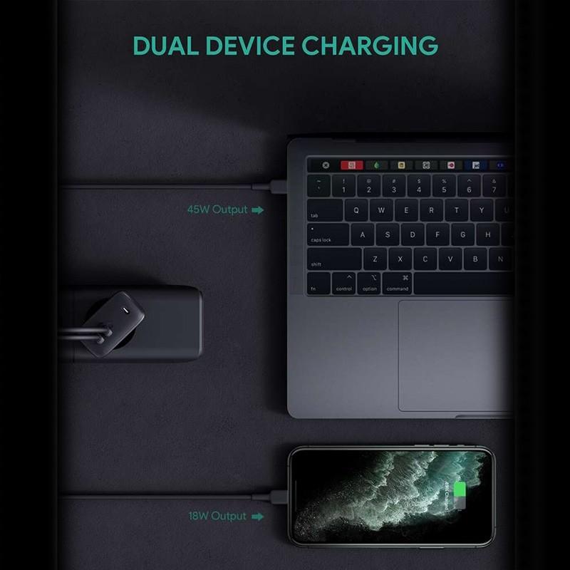 Aukey Oplader 65W met Dubbele USB-C en Power Delivery Zwart 09