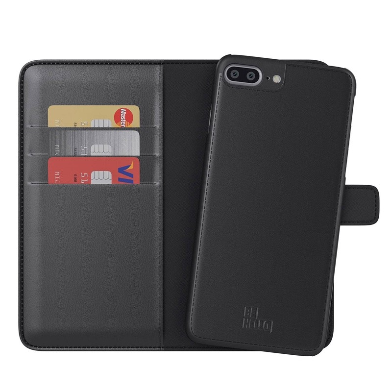 BeHello 2-in-1 Wallet iPhone 8 Plus/7 Plus Zwart - 1