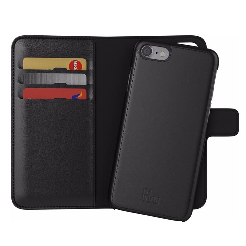 BeHello 2-in-1 Wallet iPhone 8/7 Zwart - 1