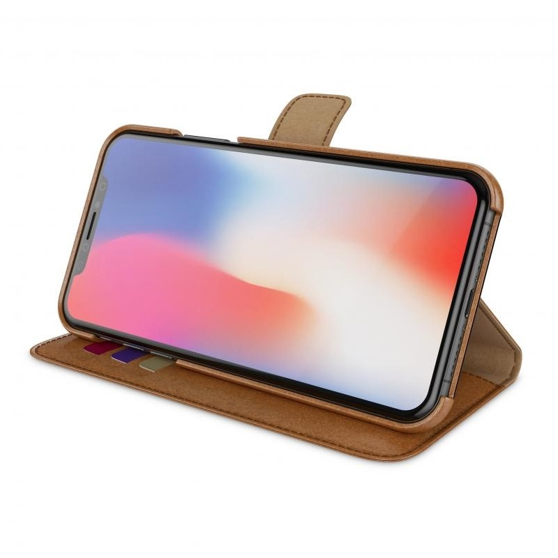 BeHello 2-in-1 Wallet Case iPhone X/Xs Bruin 04