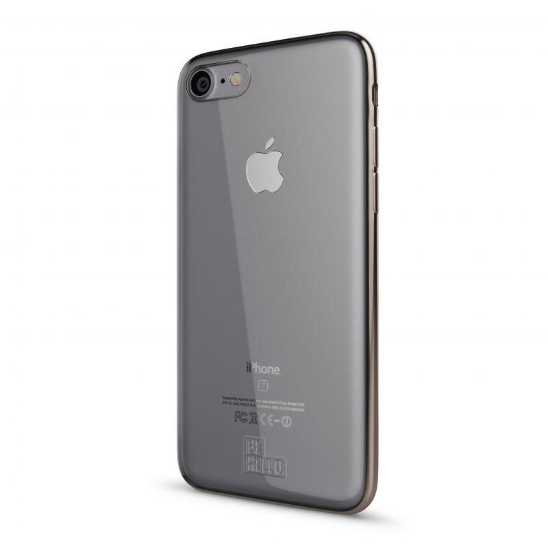 BeHello Gel Case Chrome Edge iPhone SE (2020)/8/7/6S/6 Goud - 1