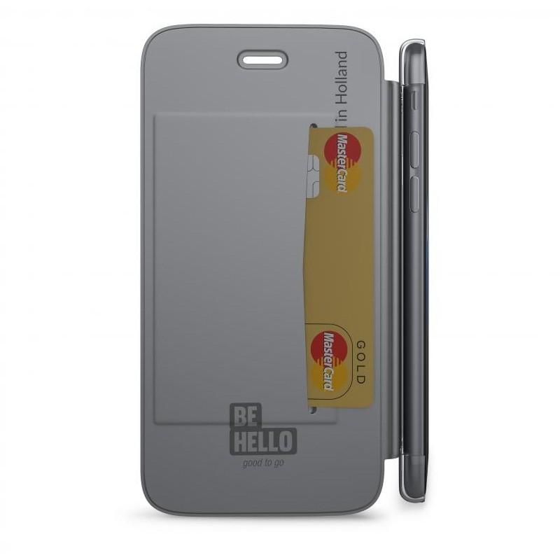 BeHello Clear Back Wallet Case iPhone 8/7/6S/6 Zilver - 3