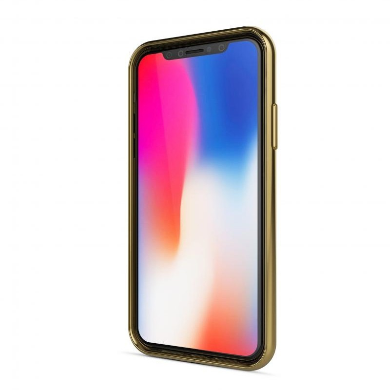 BeHello Gel Case Chrome Edge iPhone X/Xs Goud Zwart 02