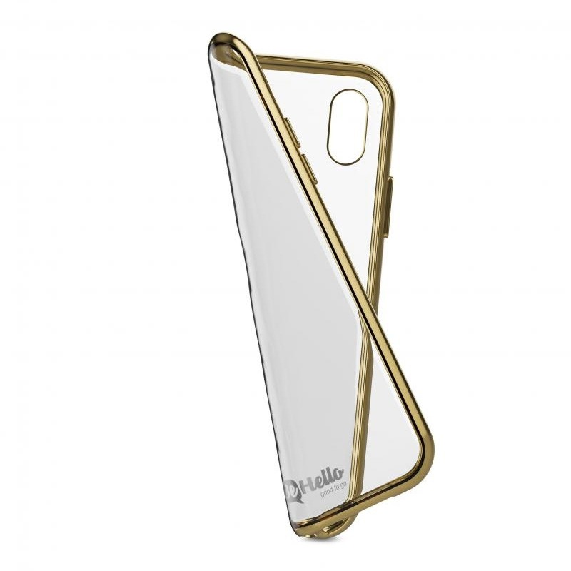 BeHello Gel Case Chrome Edge iPhone X/Xs Goud Zwart 04