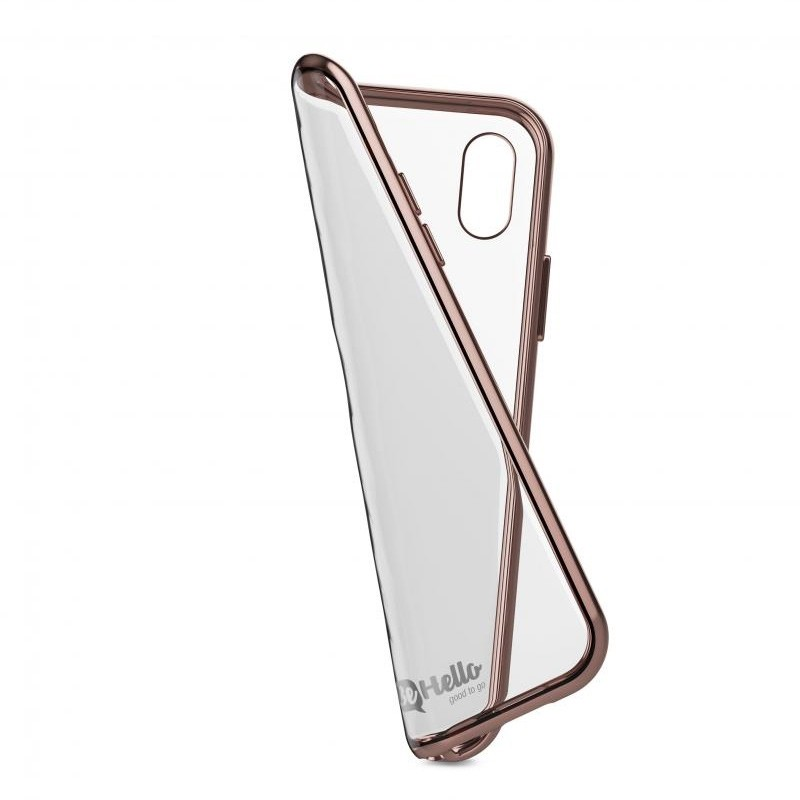BeHello Gel Case Chrome Edge iPhone X/Xs Roze Goud Zwart 04