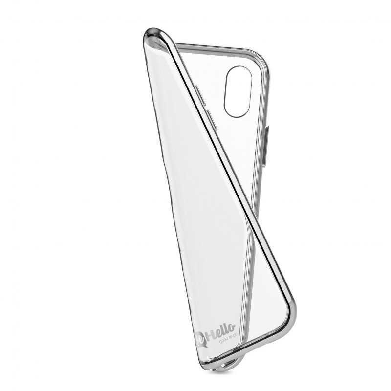 BeHello Gel Case Chrome Edge iPhone X/Xs Zilver Transparant 04