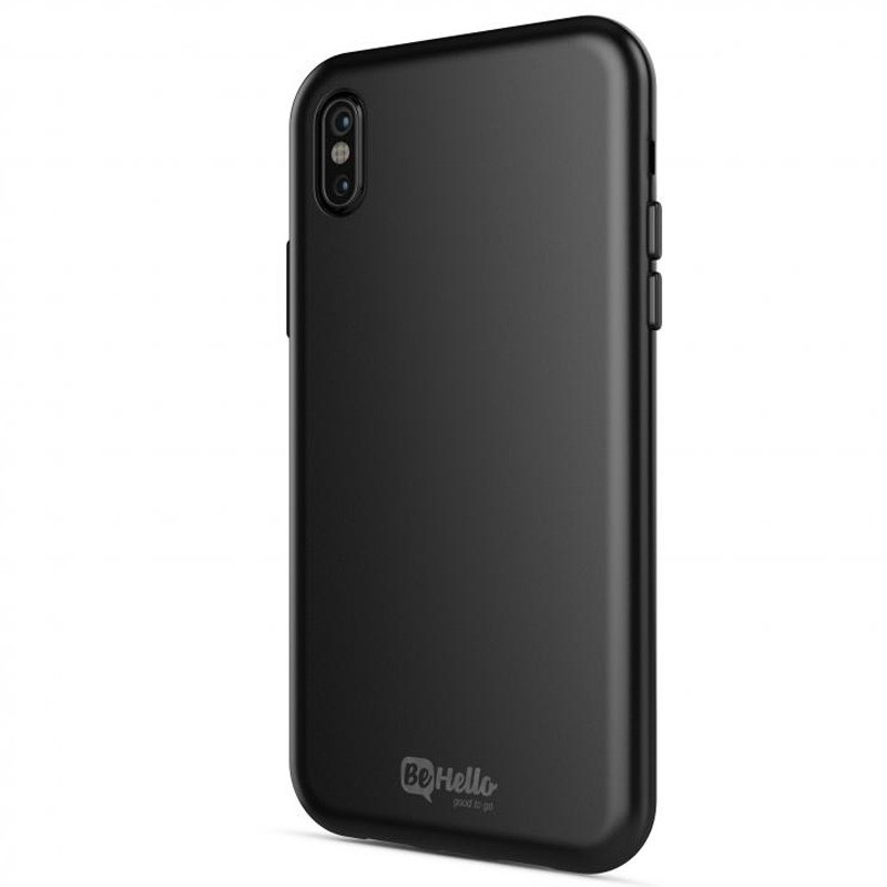BeHello Gel Case iPhone X/Xs Hoesje Zwart 01