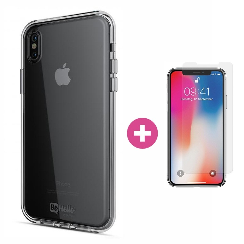 BeHello Gel Case iPhone X/Xs Hoesje Transparant 01