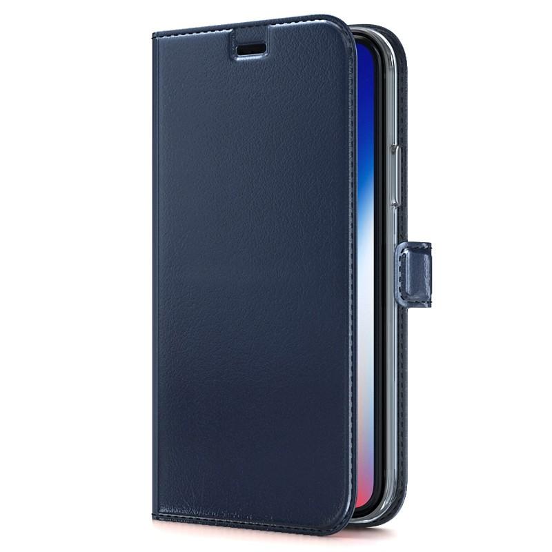 BeHello Gel Wallet Case iPhone XS Max Blauw 01