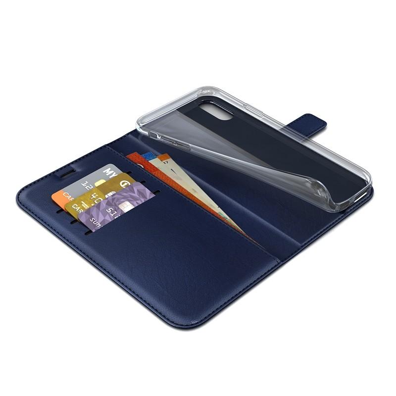 BeHello Gel Wallet Case iPhone XS Max Blauw 02