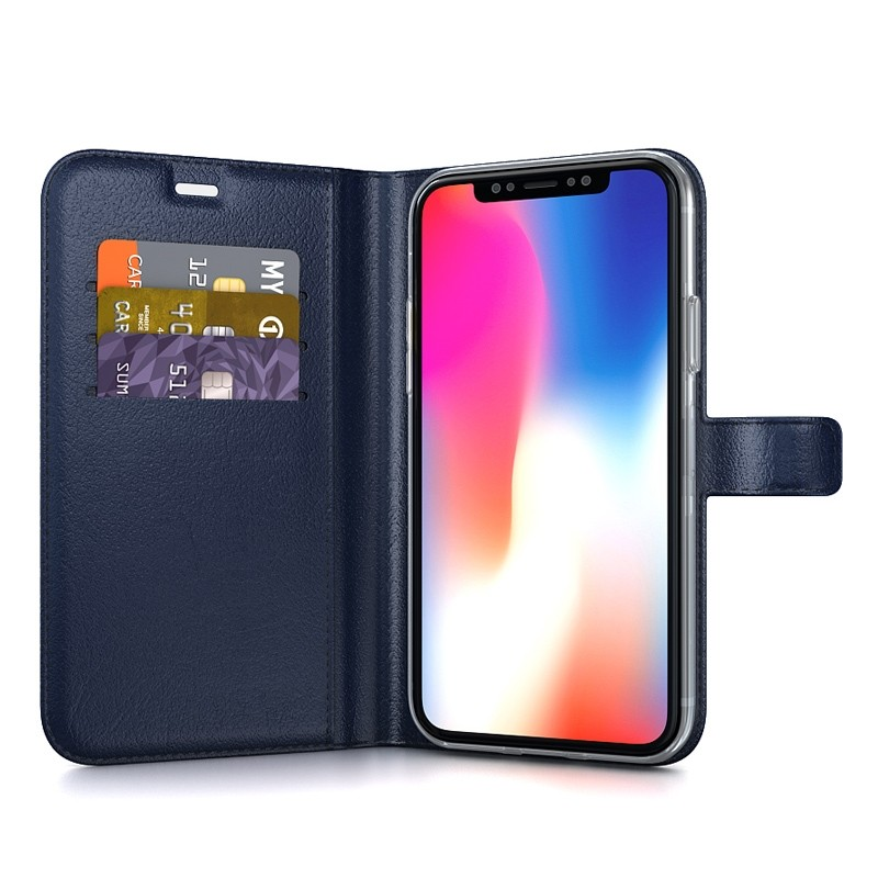 BeHello Gel Wallet Case iPhone XS Max Blauw 03
