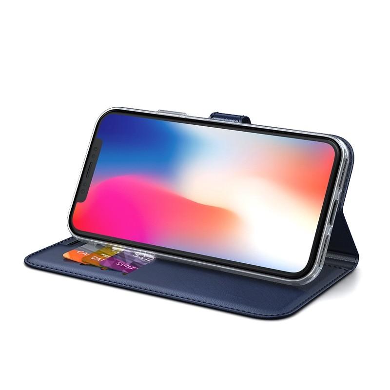 BeHello Gel Wallet Case iPhone XS Max Blauw 04