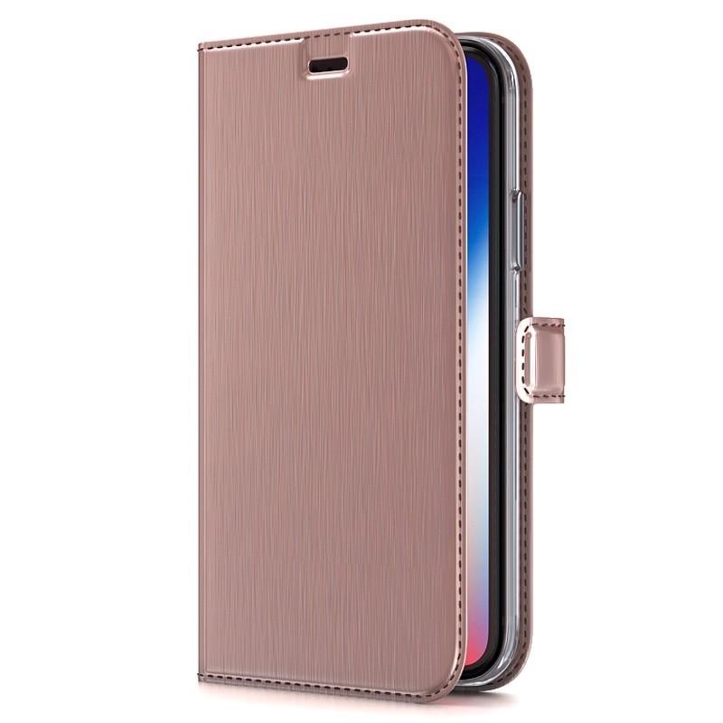 BeHello Gel Wallet Case iPhone XS Max Roze 01