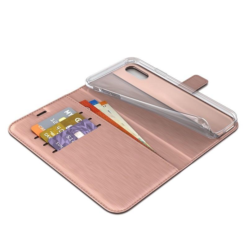 BeHello Gel Wallet Case iPhone XS Max Roze 02