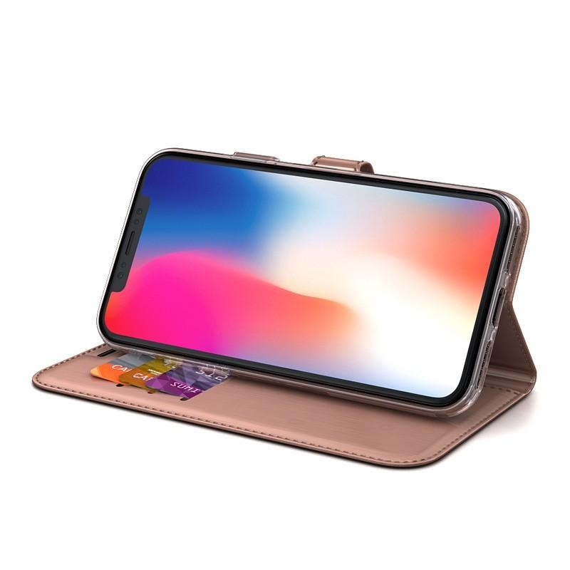 BeHello Gel Wallet Case iPhone XS Max Roze 04