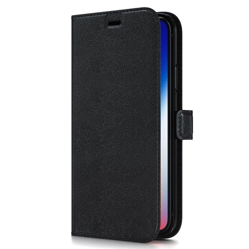 BeHello Gel Wallet Case iPhone XS Max Zwart 01