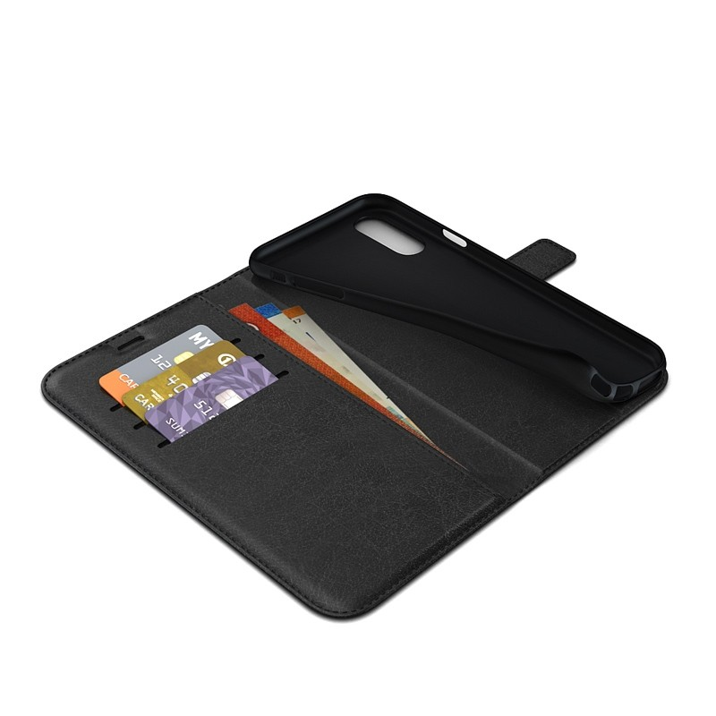 BeHello Gel Wallet Case iPhone XS Max Zwart 02