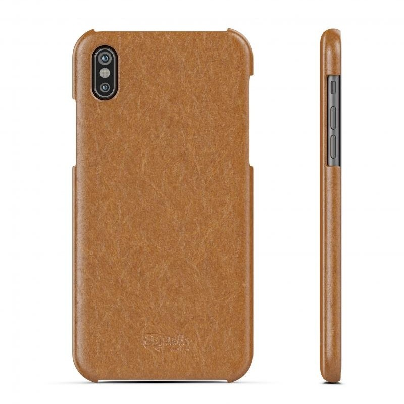 BeHello Leather Case iPhone X/Xs Hoesje Bruin 03