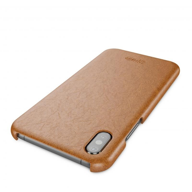 BeHello Leather Case iPhone X/Xs Hoesje Bruin 04