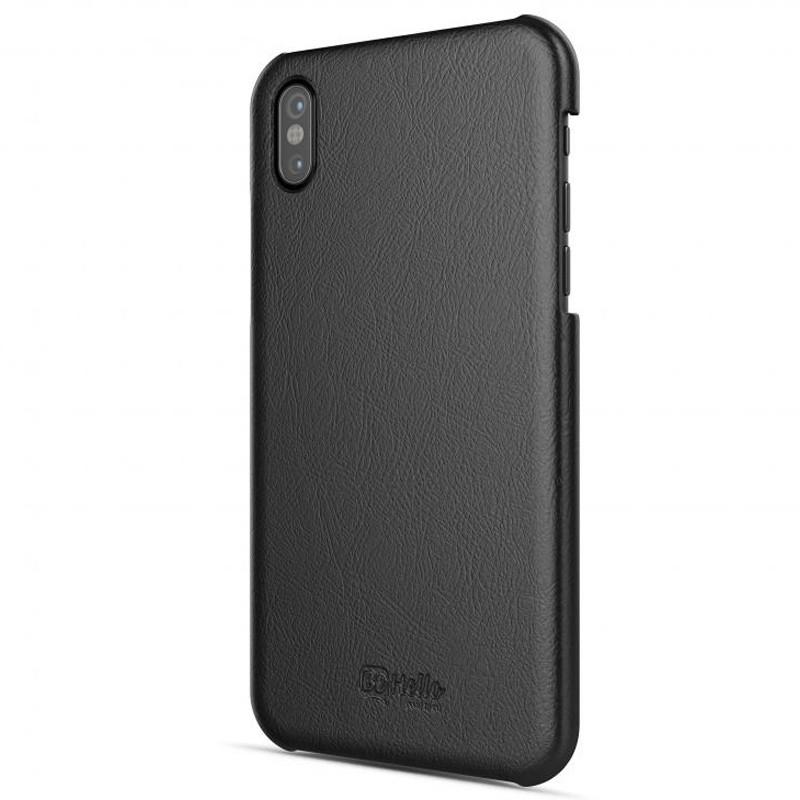 BeHello Leather Case iPhone X/Xs Hoesje Zwart 01