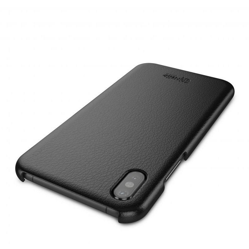 BeHello Leather Case iPhone X/Xs Hoesje Zwart 04