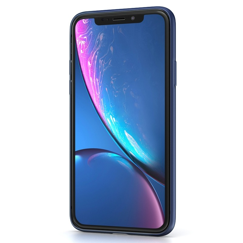 BeHello Liquid Silicon Case iPhone XR Blauw 02