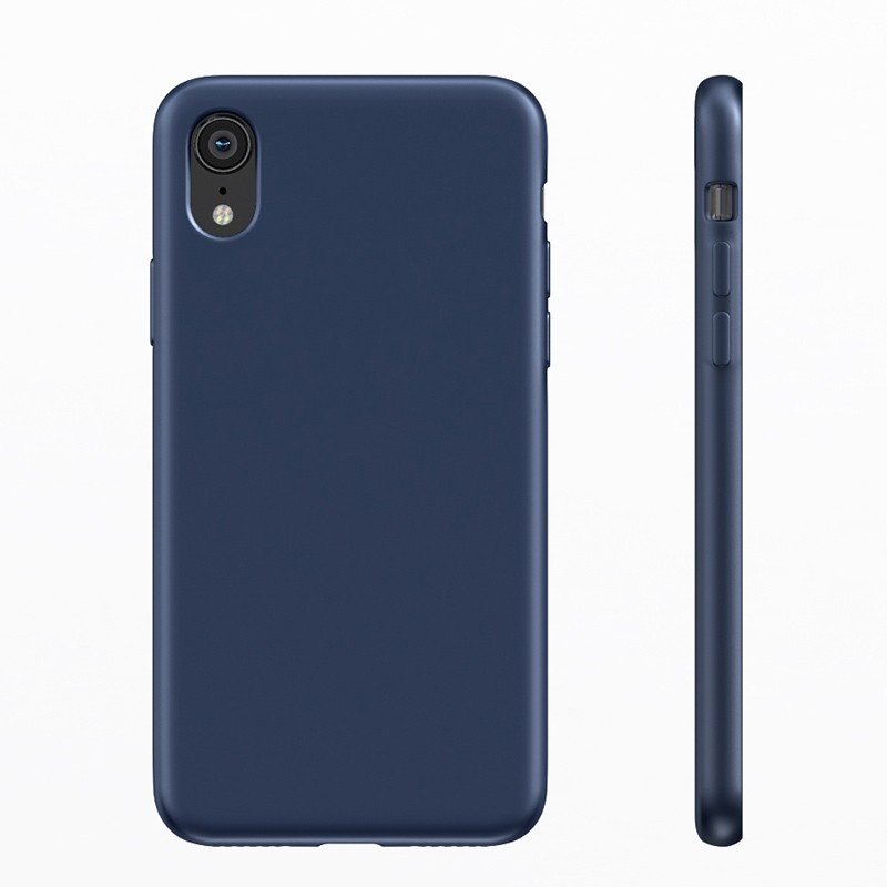 BeHello Liquid Silicon Case iPhone XR Blauw 04