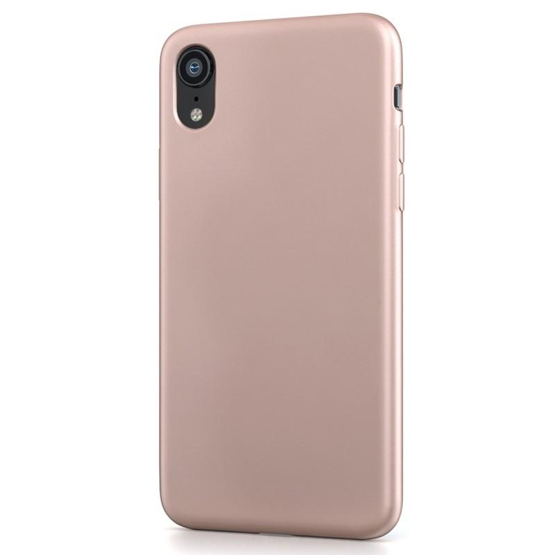 BeHello Liquid Silicon Case iPhone XR Roze 01