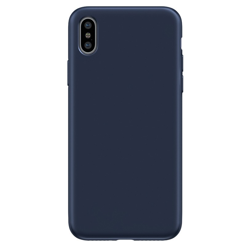 BeHello Liquid Silicon Case iPhone XS Max Blauw 02